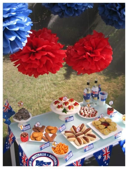 Australia Day Party - Food Table 2